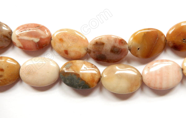 New Crazy Lace Agate  -  Puff Ovals 16""