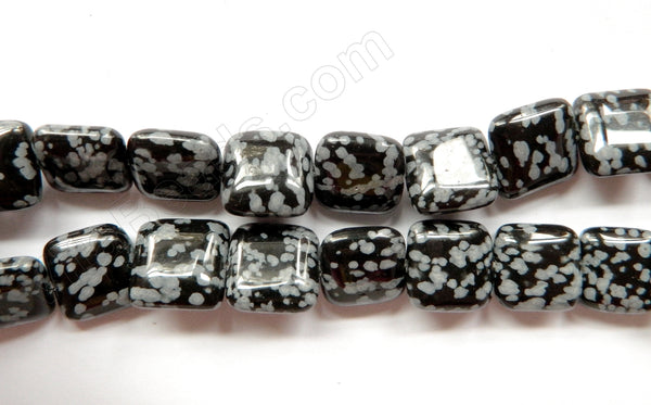 Snowflakes Obsidian  -  Puff Squares  16""