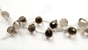 Smoky Topaz Natural AAA Light India - 9x12mm Faceted Teardrop 16""
