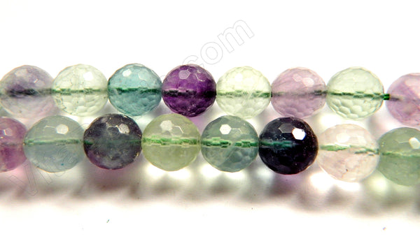 Rainbow Fluorite A  -  Faceted Round  16""