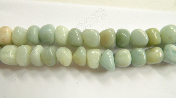 Amazonite  -  10x8mm Center Drilled Tumble 16""