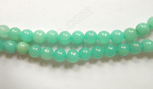 Dyed Hemimorphite Amazonite  -  Smooth Round Beads  16""
