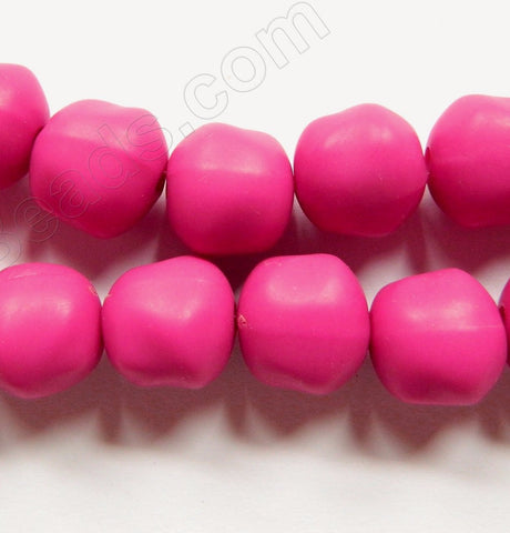Frosted Fuchsia Acrylic  -  Big Smooth Round Nuggets  8""