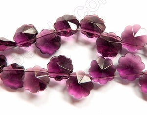 Red Fluorite  -  Caviar Flower Top Drilled  15""
