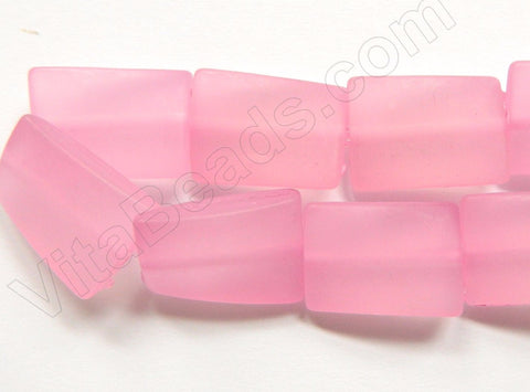 Frosted Pink Acrylic  -  Twist Flat Rectangles 12""
