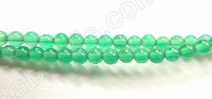 "Green Onyx  -   Small Smooth Round  15.5""    3mm"
