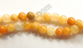 "Multi Yellow Jade   -   Small Smooth Round  15.5""    3mm"