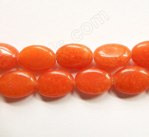 Orange Mashan Jade  -  Puff Ovals  16""