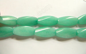 Light Amazonite Jade  -  15x30mm Twisted Rectangles  16""