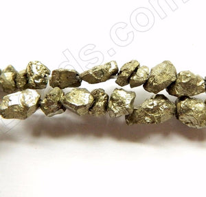 Pyrite A  -  Rough Small Nuggets  15""