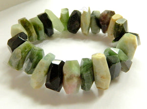 Ruby Zoisite - Machine Cut Roundels Bracelet