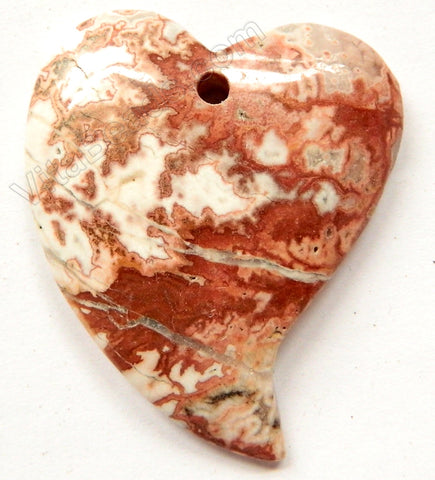 Pendant - Smooth Fancy Heart - Conglomarite Dark