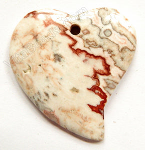 Pendant - Smooth Fancy Heart - Conglomarite Light