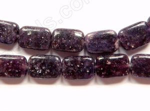 Dark Lepidolite  -  Puff Rectangles  16""