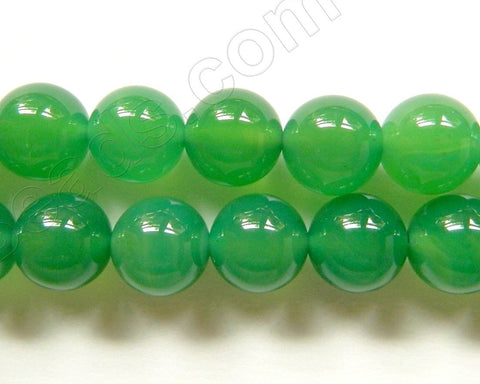 Opaque Sea Green Onyx   -  Smooth Round  16""