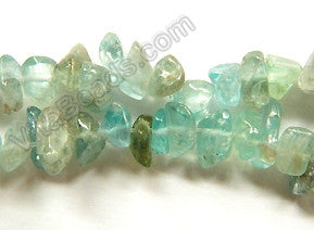 "Apatite  -  Small Nugget Chips 16""    8 - 10 mm"