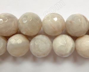 Light Brazilian Agate  AA  -  Big Faceted Round 16""