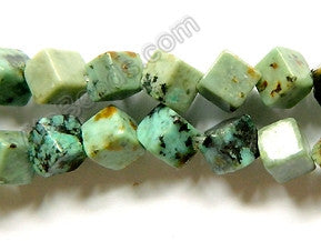 Africa Turquoise  -  6mm Di-drilled Cubes 16""