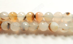 Natural Warm Agate  -  Faceted Round  16""