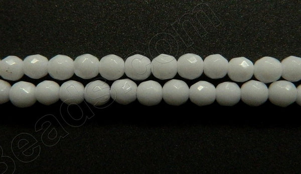 Snow Quartz  -  Faceted Round  16""