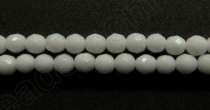 Snow Quartz  -  Small Faceted Round 16""
