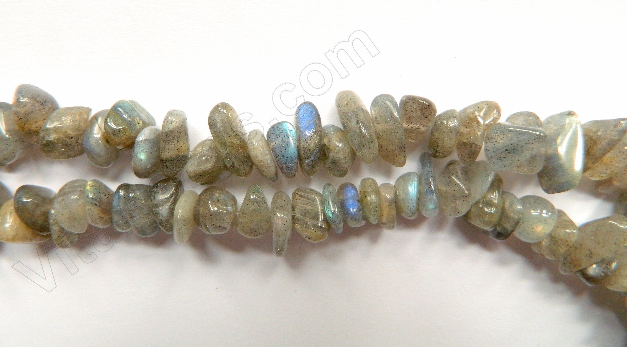 "Labradorite A -  Small Chip Nuggets  16""     8 - 10 mm"