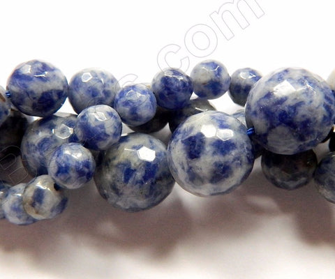 Blue Spot Stone A  -  Faceted Round  16""