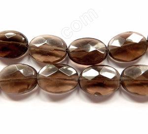Smoky Topaz AA  -  Faceted Ovals 16""