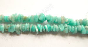 Peruvian Amazonite Natural A  -  6mm Small Chip Nuggets