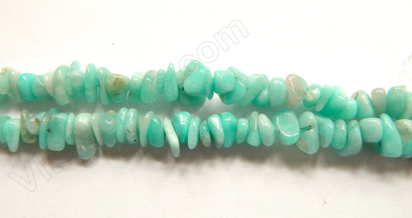 Peruvian Amazonite Natural A  -  Small Chip Nuggets