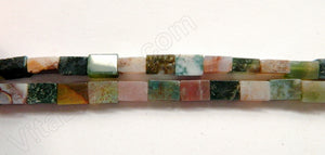"Fancy Jasper  -  Brick  16""    6x9x4mm"