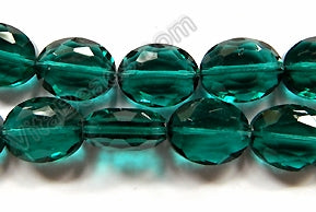 Dark Emerald Crystal Qtz  -  Faceted Ovals