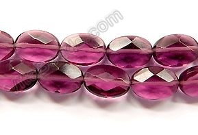 Red Fluorite Light   -  Faceted Oval  16""