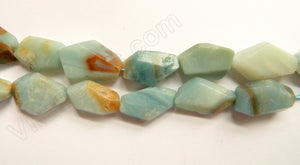 Golden Amazonite  -  16x28mm Machine Cut Long Nuggets  16""