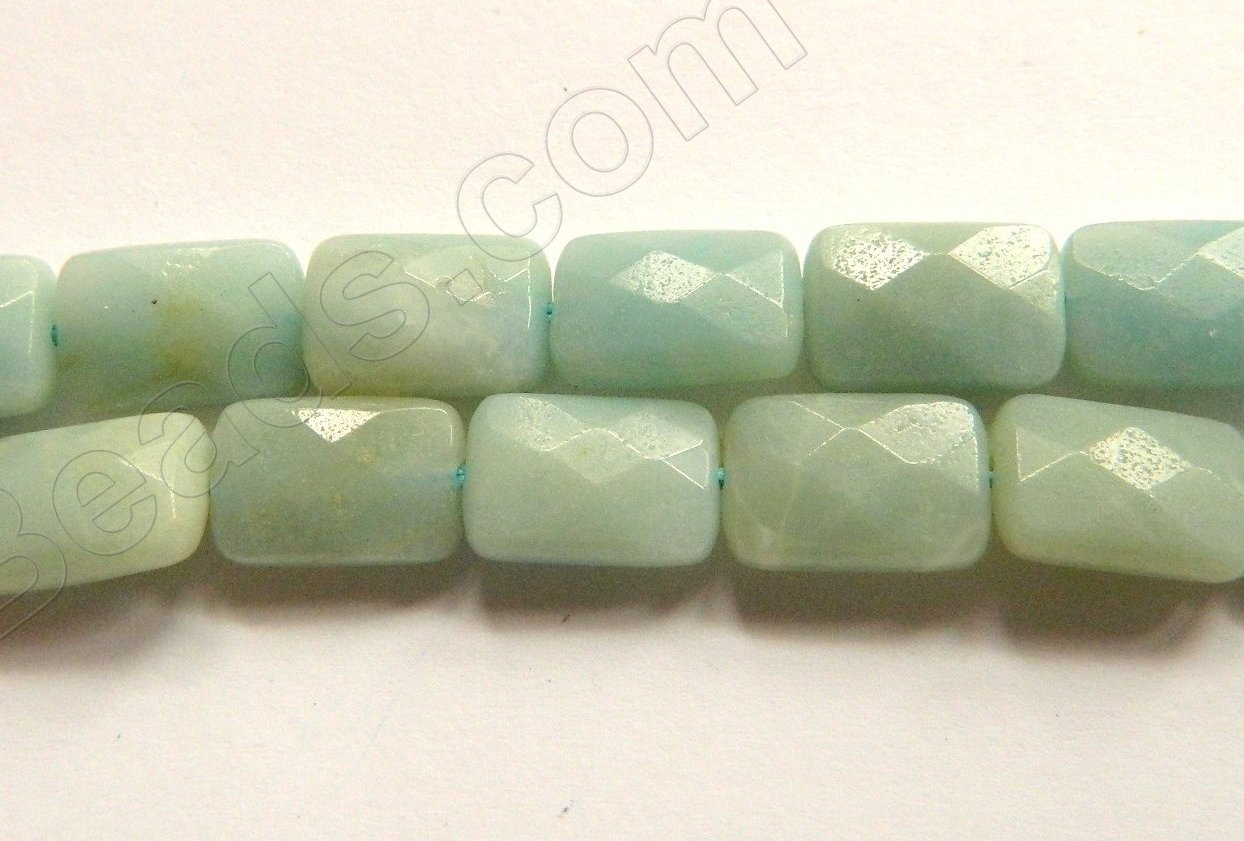 Chinese Amazonite  -  8x12mm Faceted Rectangles  16""