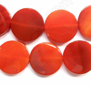 Carnelian Mixed A  -  Big Flat Coins  16""