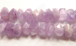 "Amethyst Light AA  -  Center Cut Faceted Tumble  16""     12 - 20 mm"