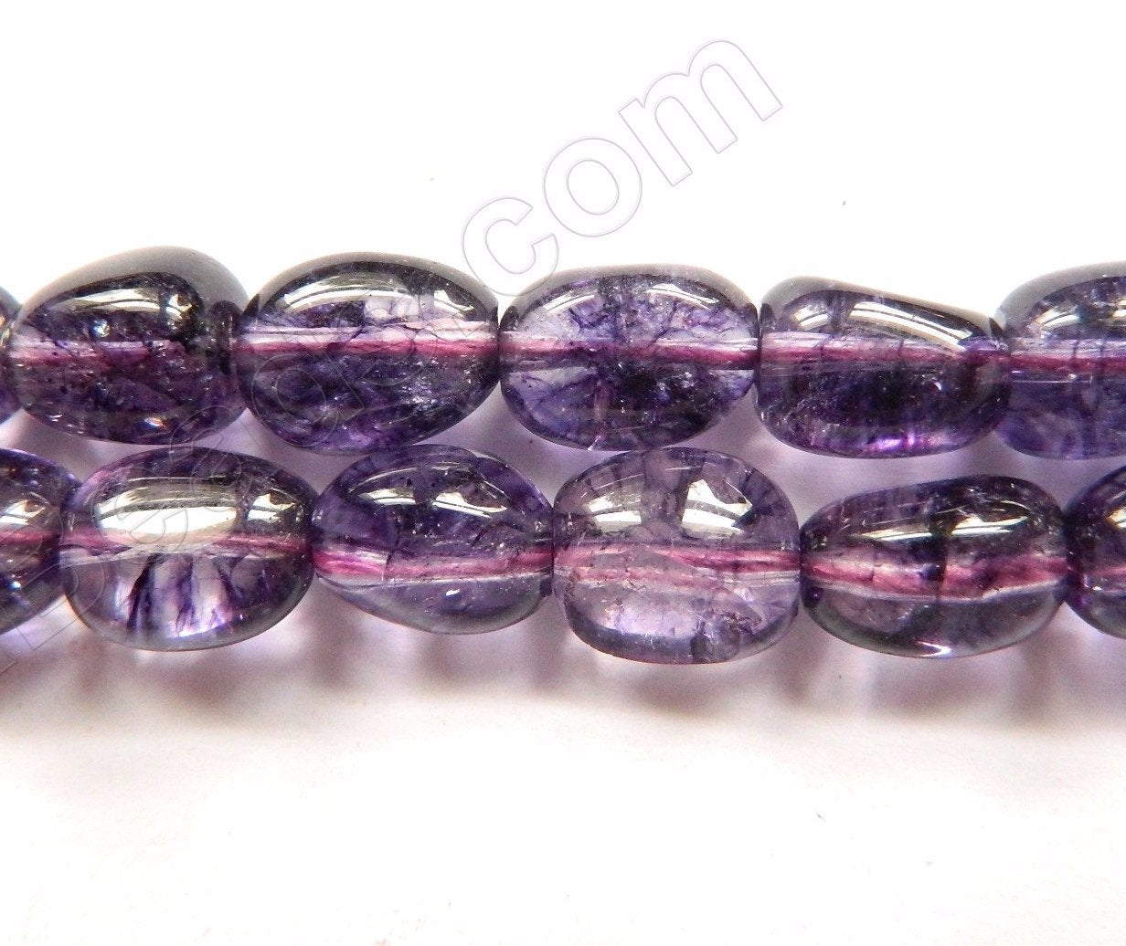 Purple Explosion Crystal Quartz AA  -  9x12mm Smooth Tumble  16""