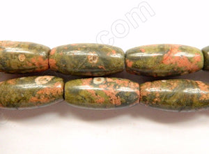 New Ryolite / Unakite  -  Smooth Rice  16""