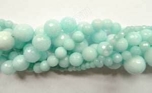 Amazonite Jade  -  Faceted Round  16""