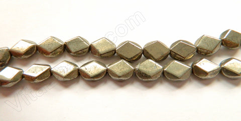 "Pyrite  -  Diamond Cut Ovals 16""    8 x 10 mm"
