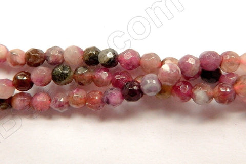 "Tourmaline Natural A  -  Small Faceted Round  15""    4mm"