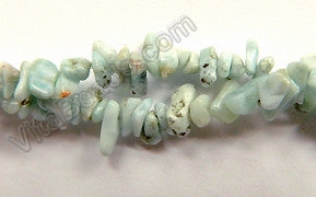 "Blue Larimar Opal (Natural)  -  Chips 16""    5 - 6 mm"