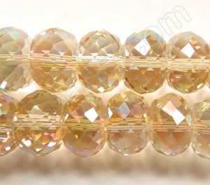 "Light Champ. AB Crystal  -  Big Faceted Drum 8""   16 x 10 mm"