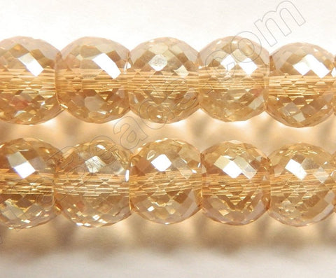 "Light Champ. AB Crystal  -  Faceted Drum 7""   11 x 9 mm"