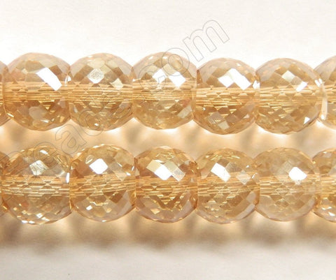 Light Champ. AB Crystal  -  11x9mm Faceted Drum 7""