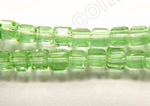 Apple Green Crystal  -  Small Double Edge Cubes 16""