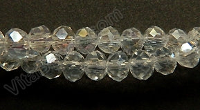 "AB Crystal  -  Small Faceted Rondel  12.5""     4 x 3 mm"