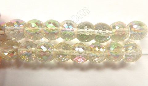AB Crystal  -  11x9mm Faceted Drum 7""