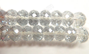 Light Grey AB Crystal  -  16x10mm Big Faceted Drum 8""